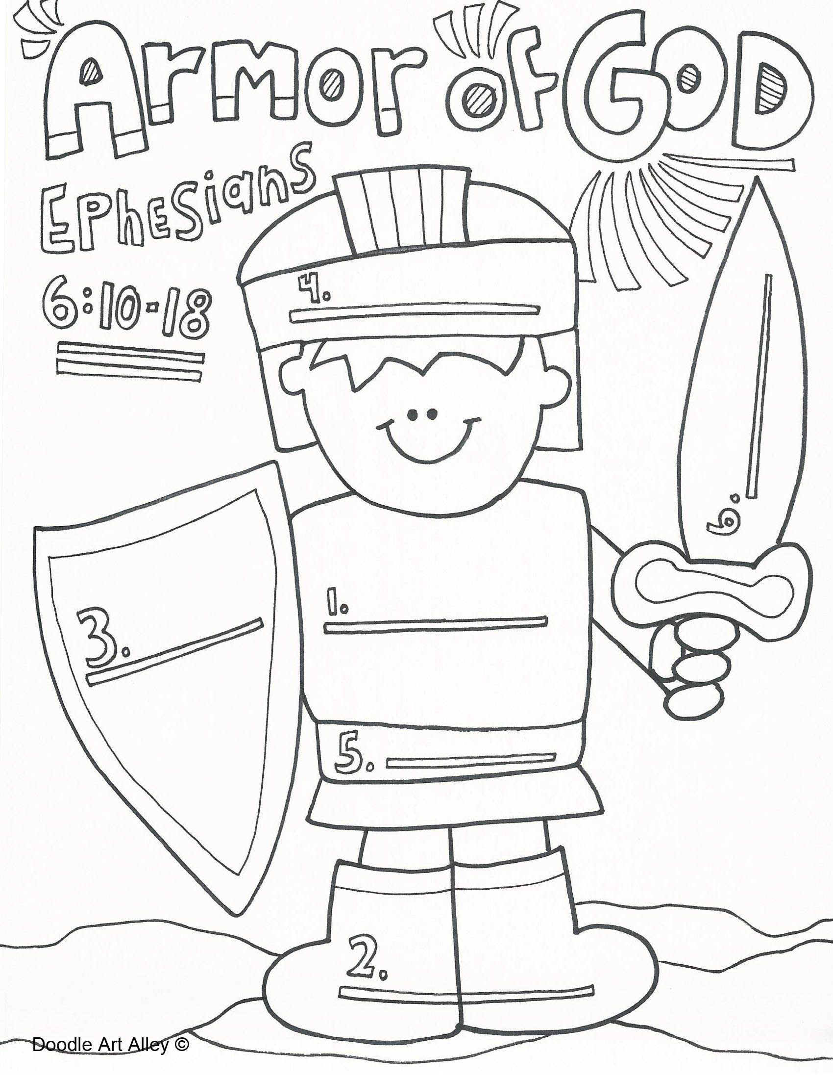 image relating to Armor of God Printable Coloring Page titled God Coloring Webpages at  Free of charge for unique