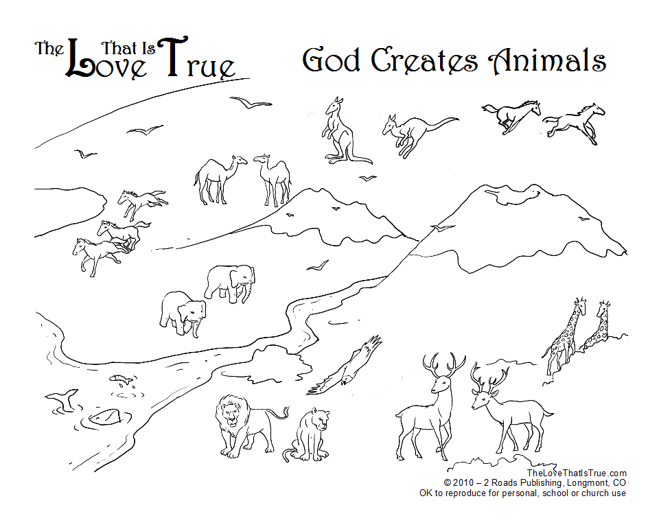 960x768 God Made Animals Coloring Page Creche Activities
