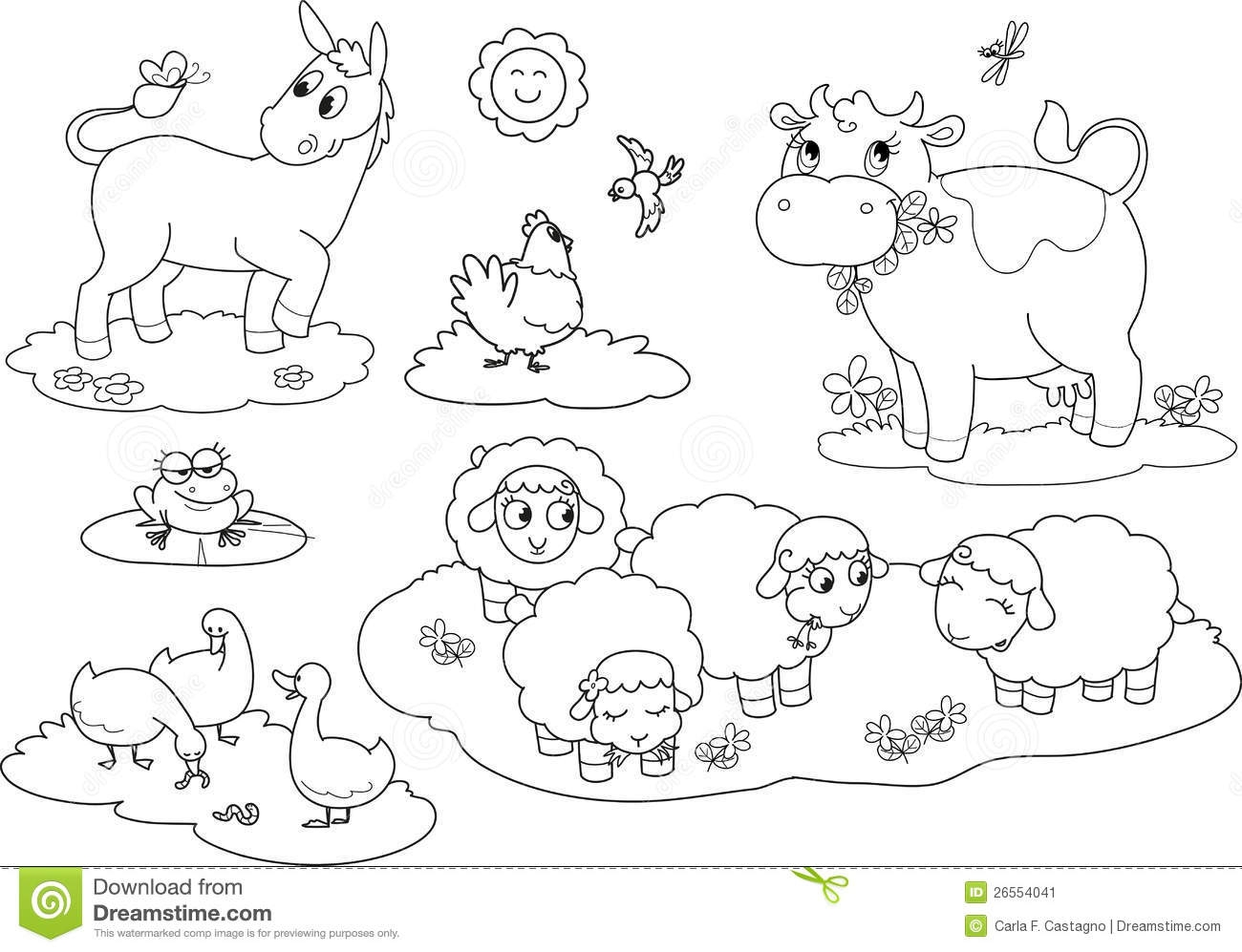 1300x997 Printable Animals Farm Animal Coloring Pages Farm Animals Painting