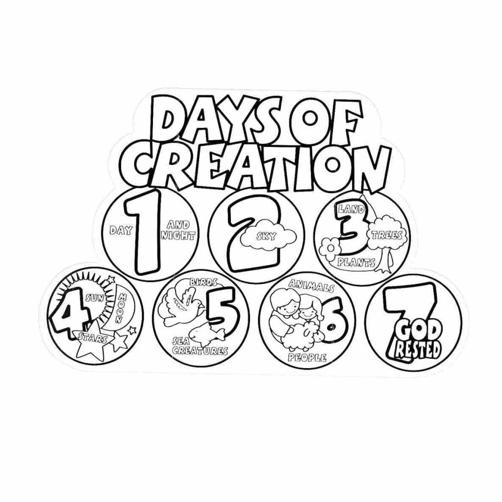 1024x1024 Coloring Pages Creation Coloring Pages God Made The Sun Moon