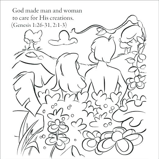 522x522 Coloring Page God Created Animals Bible Color Pages Gods Creation