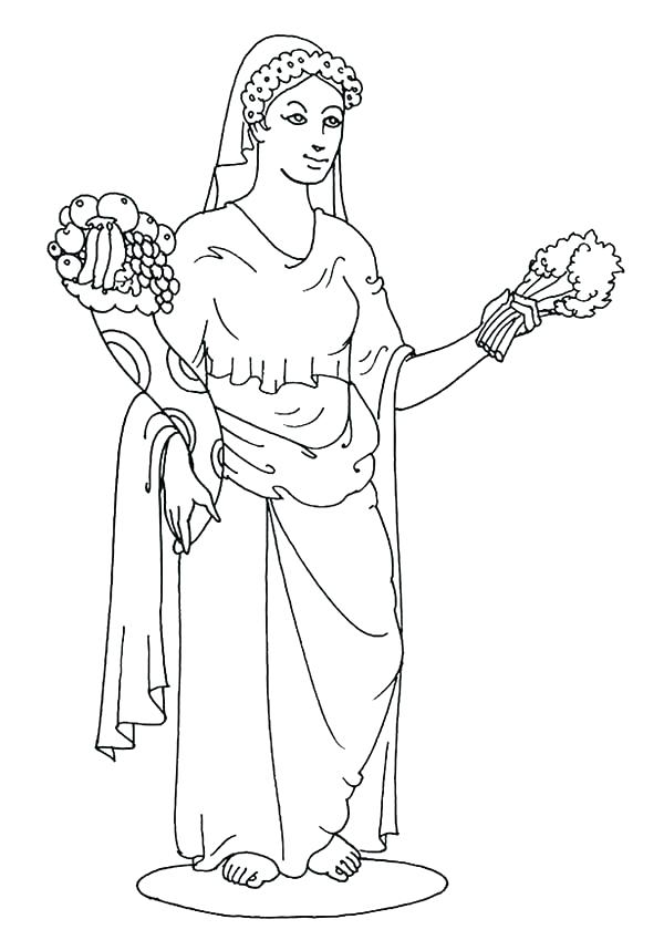 600x849 Aphrodite Goddess Of Love Coloring Pages Coloring Pages Goddess