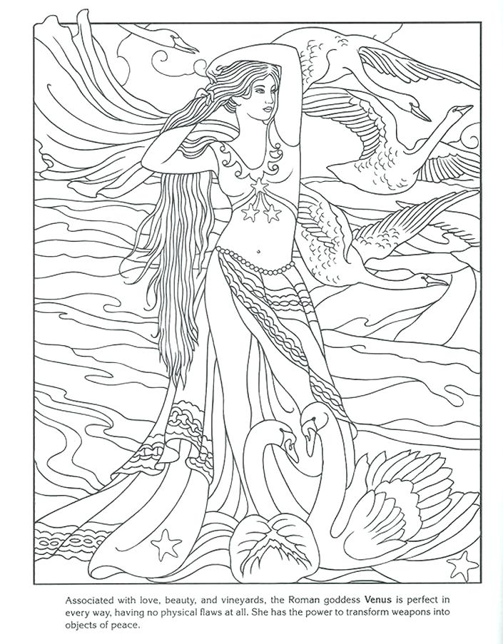 705x903 Goddess Coloring Pages Athena Goddess Coloring Pages