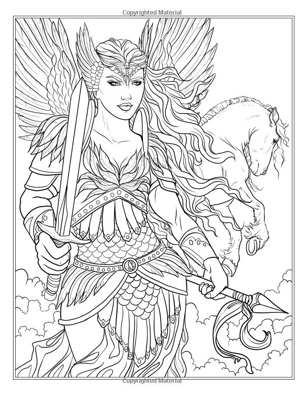 600x776 Goddess And Mythology Coloring Book