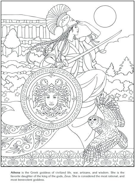 455x616 Greek Mythology Coloring Pages Greek Gods And Goddesses Coloring