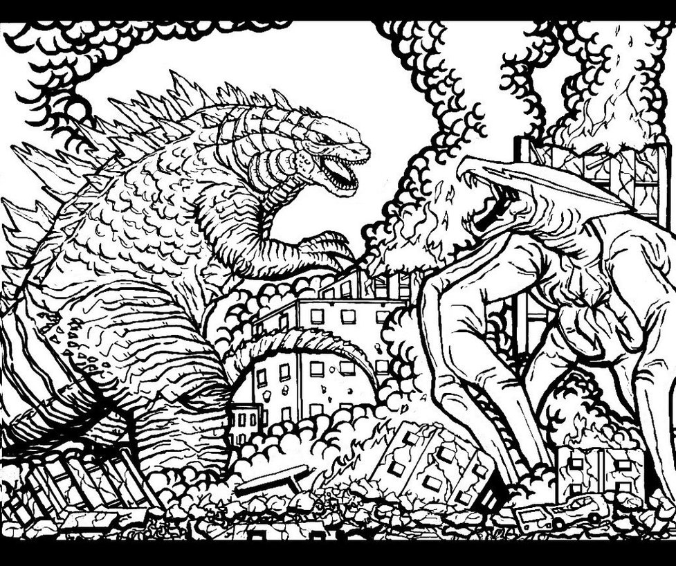 977x818 Godzilla Coloring Pages Gallery Coloring For Kids