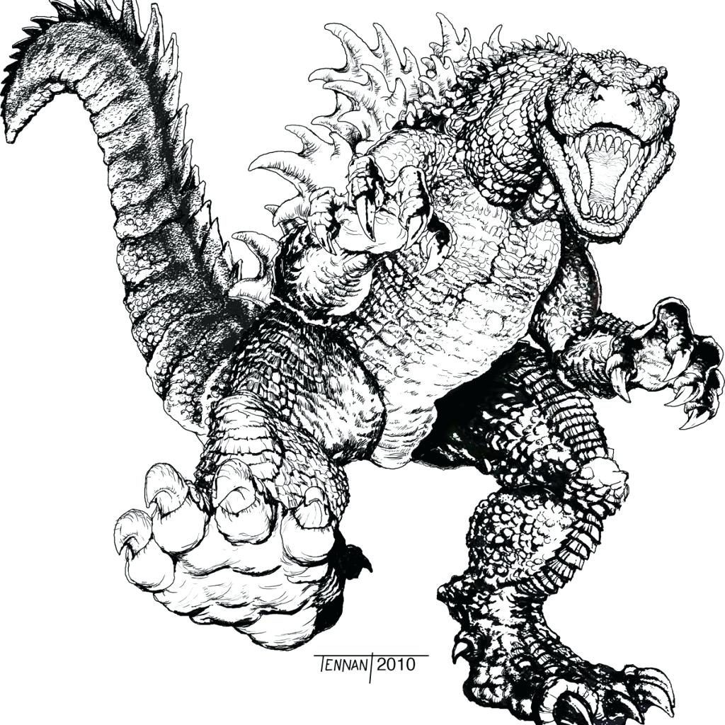 1024x1024 Godzilla Coloring Pages Luxury Printable Godzilla Coloring