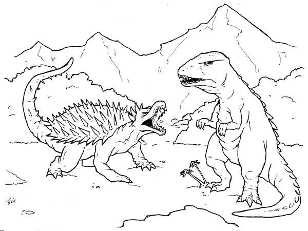 600x450 Godzilla Coloring Page Coloring Picture For Our Family Godzilla