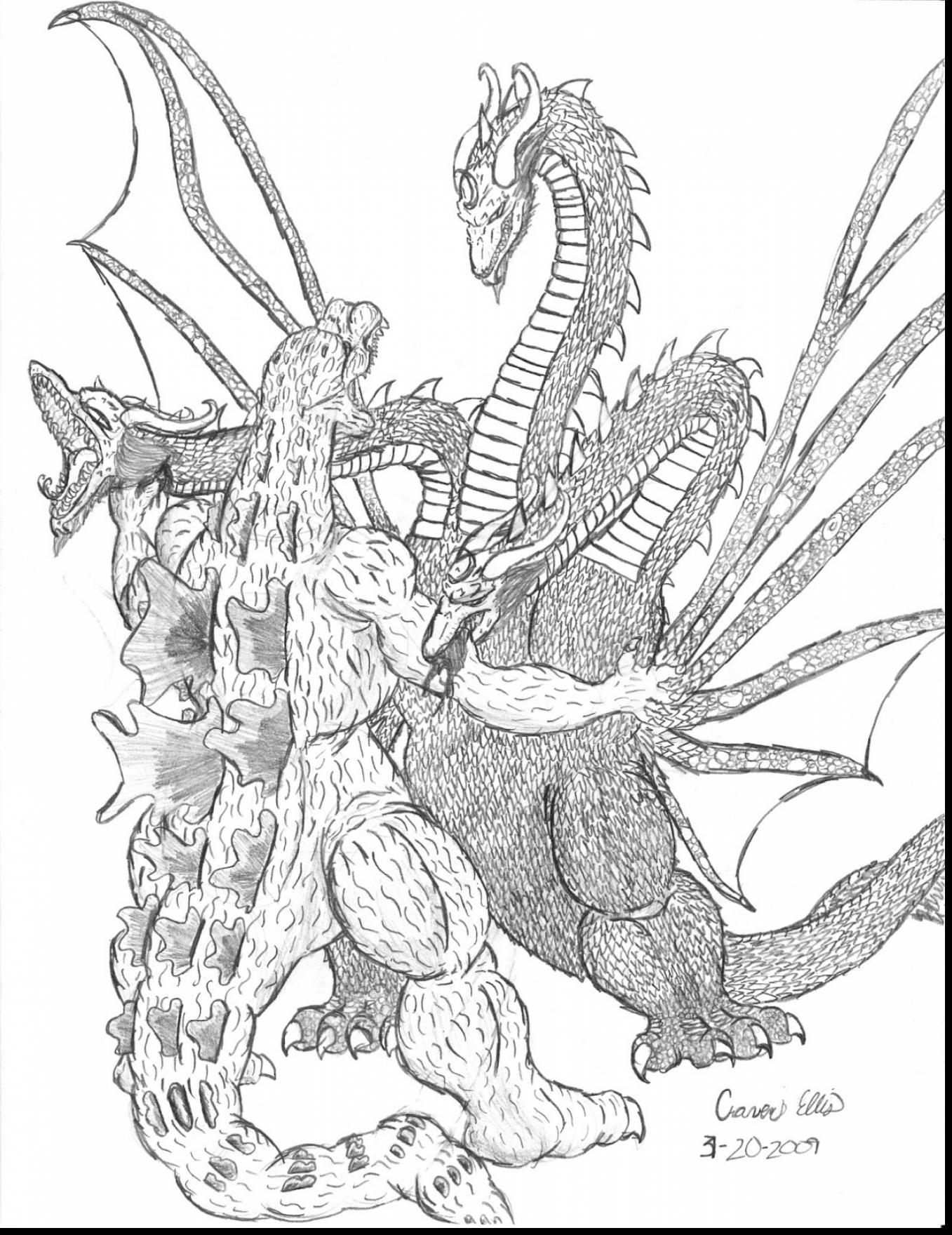 1357x1760 Godzilla Coloring Pages