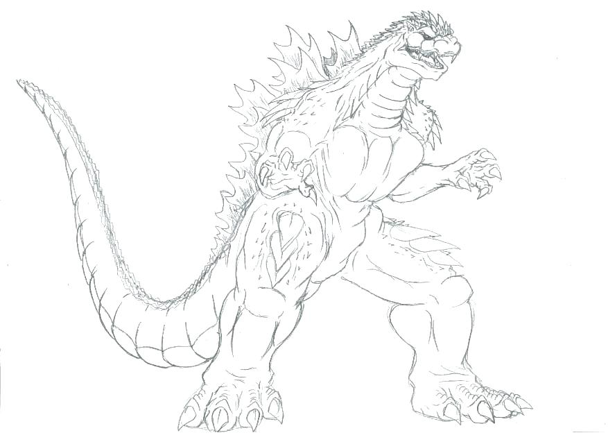New 2014 Godzilla Coloring Page | Coloring pages, Spongebob ... | 637x877