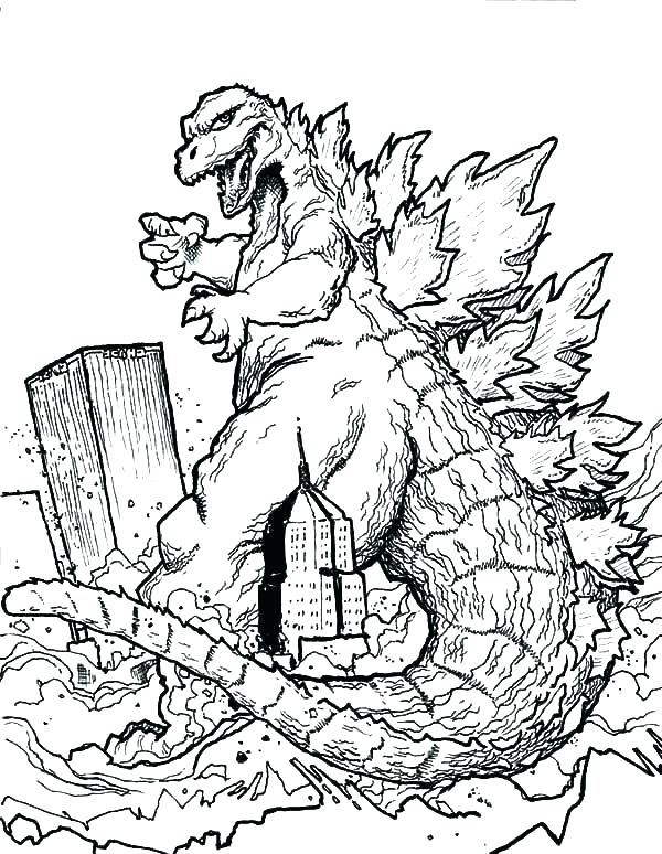 600x774 Godzilla Coloring Pages Perfect Coloring Page New Book As Well