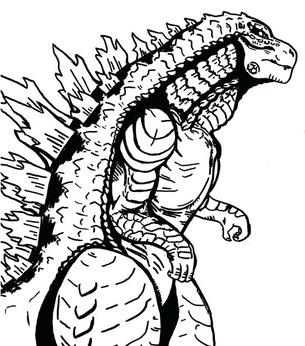 600x681 Godzilla Coloring Pages Sea Monster Coloring Pages Color Godzilla