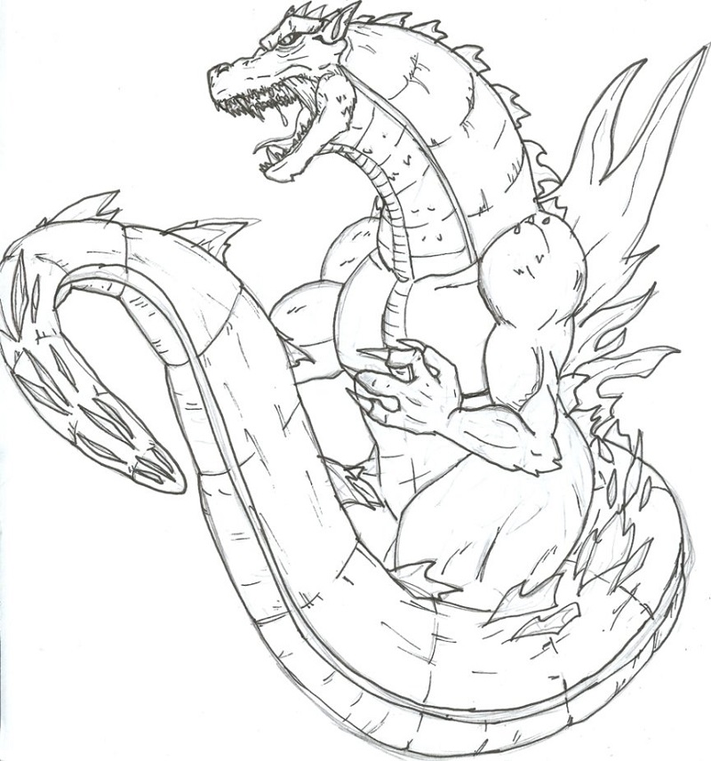 800x856 Godzilla Coloring Pages To Print Free Loving Printable