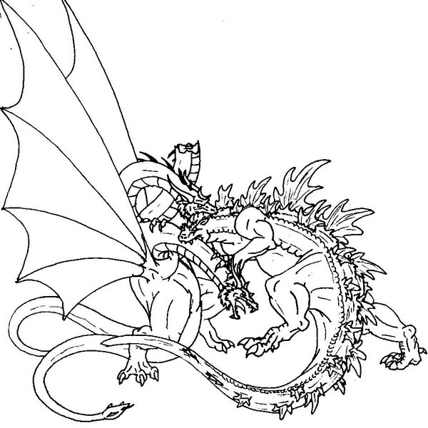 600x600 Godzilla Coloring Pages