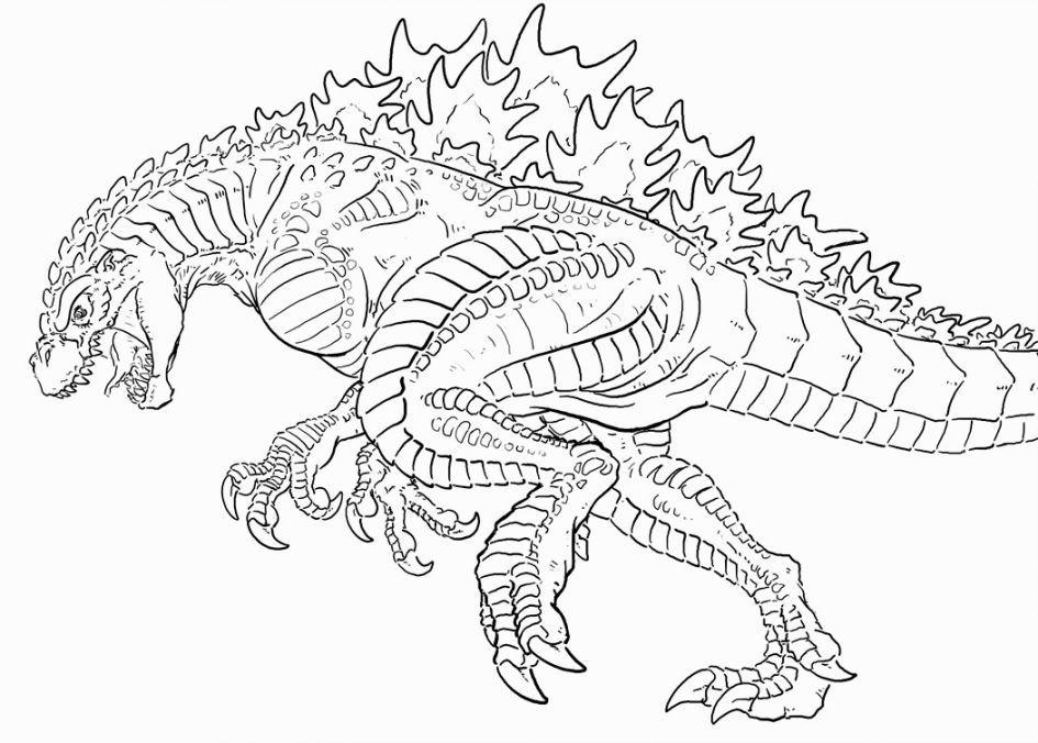 945x676 Godzilla Coloring Sheets Coloring Pages Godzilla