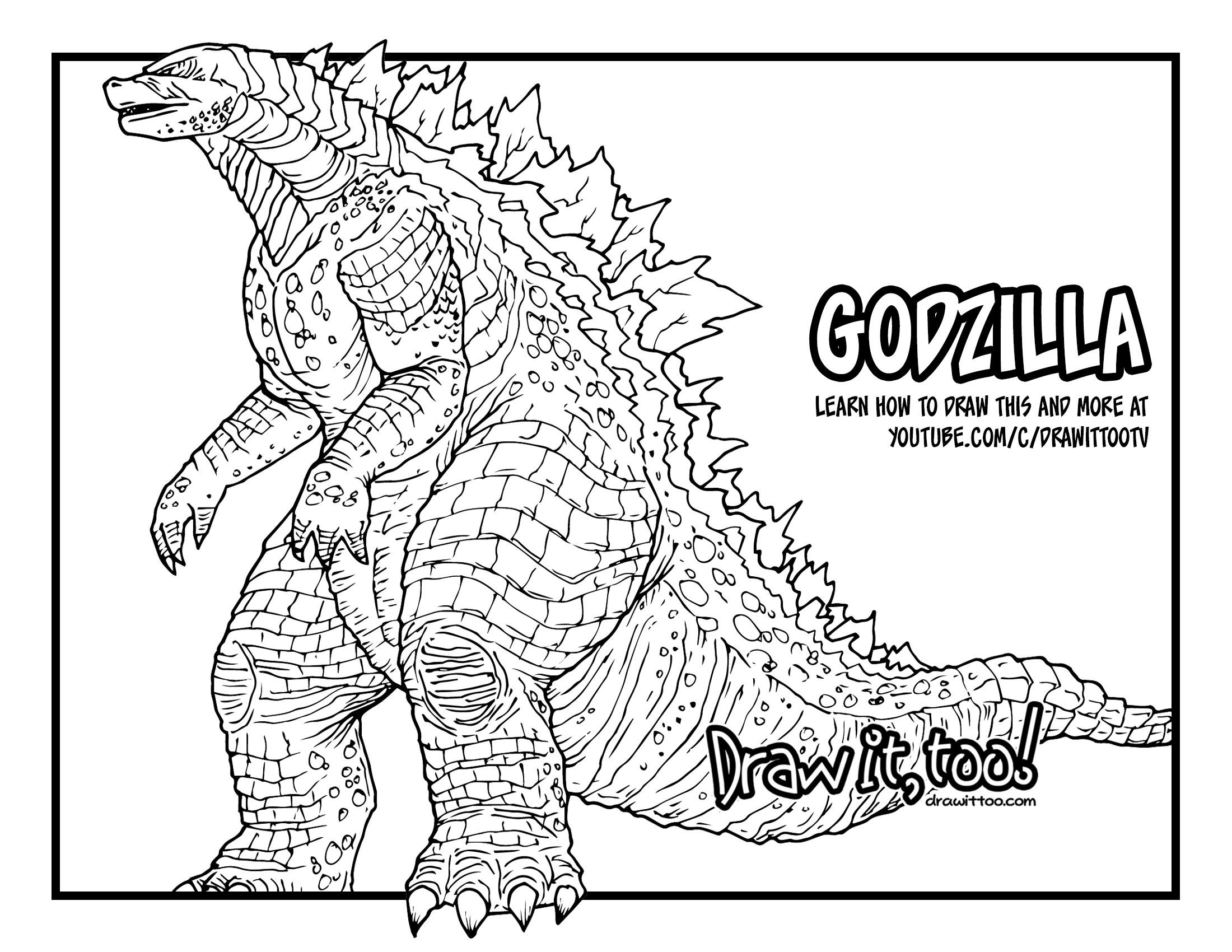 2200x1700 How To Draw Godzilla