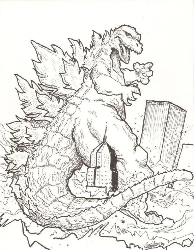 743x960 Printable Godzilla Coloring Pages For Kids Coloring