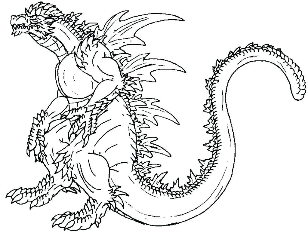 1024x775 Coloring Pages Godzilla Coloring Pages