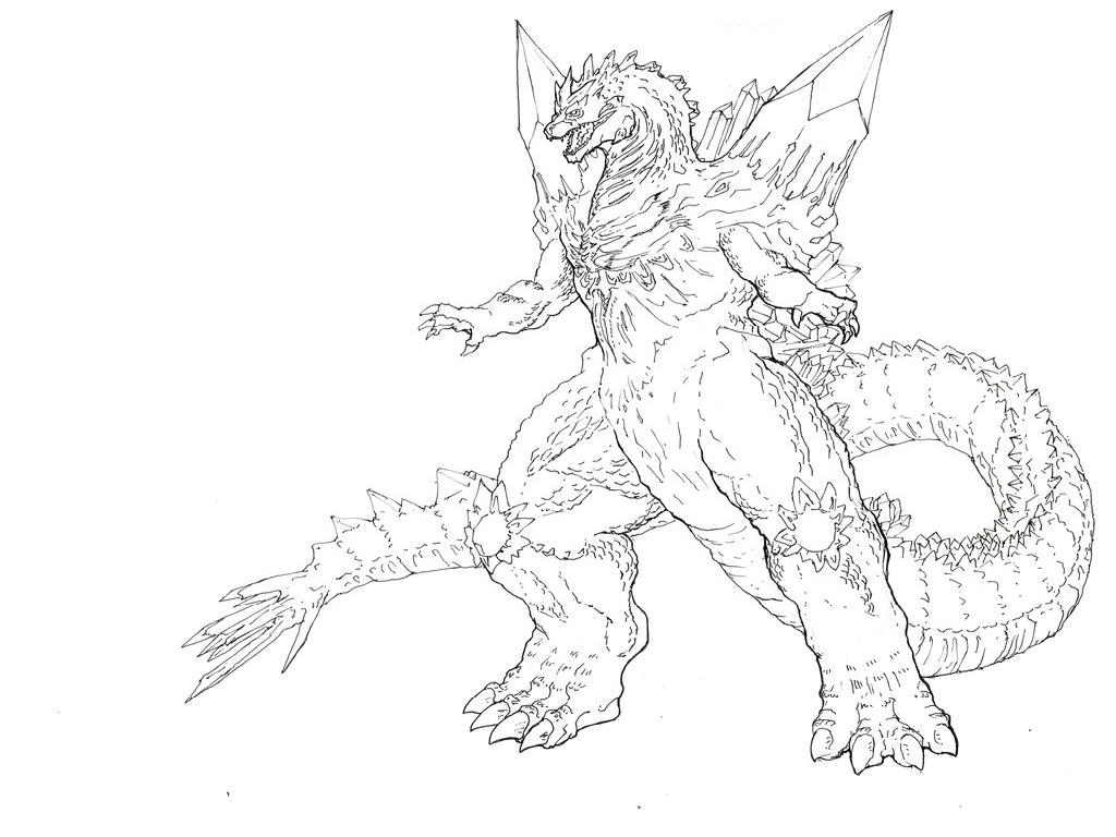 1024x768 Cool Baby Godzilla Coloring Page Pages For All Ages Online