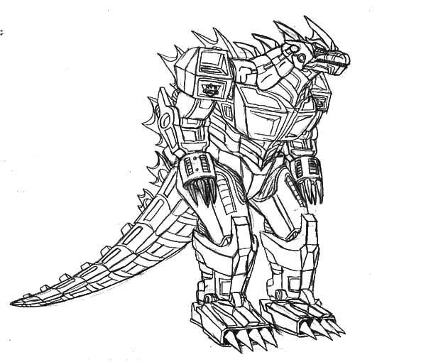 600x510 Godzilla, Robot Godzilla Coloring Pages Line Art