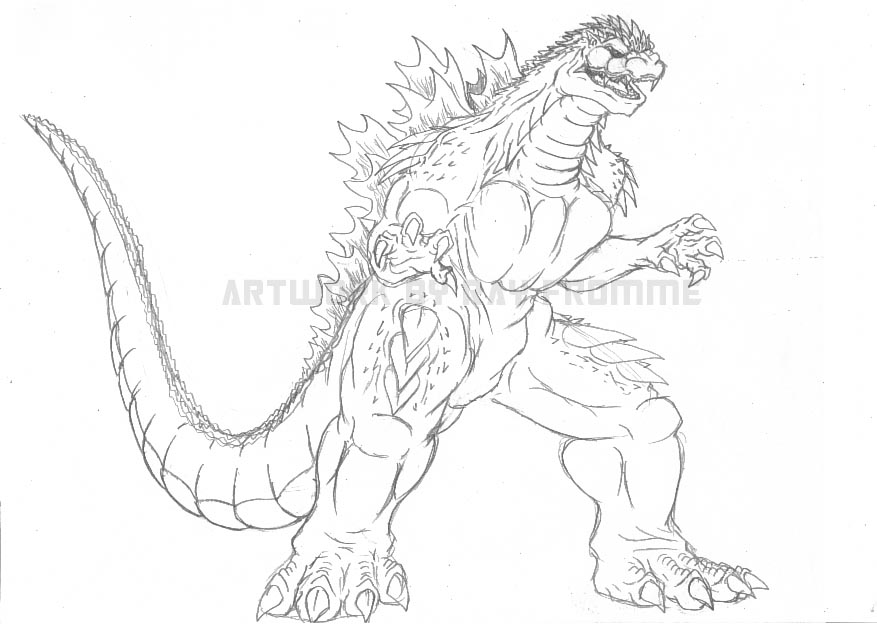 Godzilla Coloring Pages 2014