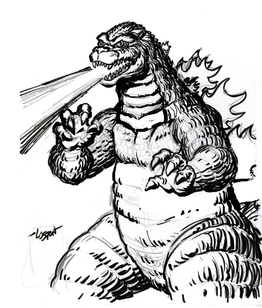 851x1000 Godzilla Coloring Pages Free Large Images Crafting