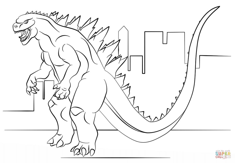 1186x824 Godzilla Coloring Pages