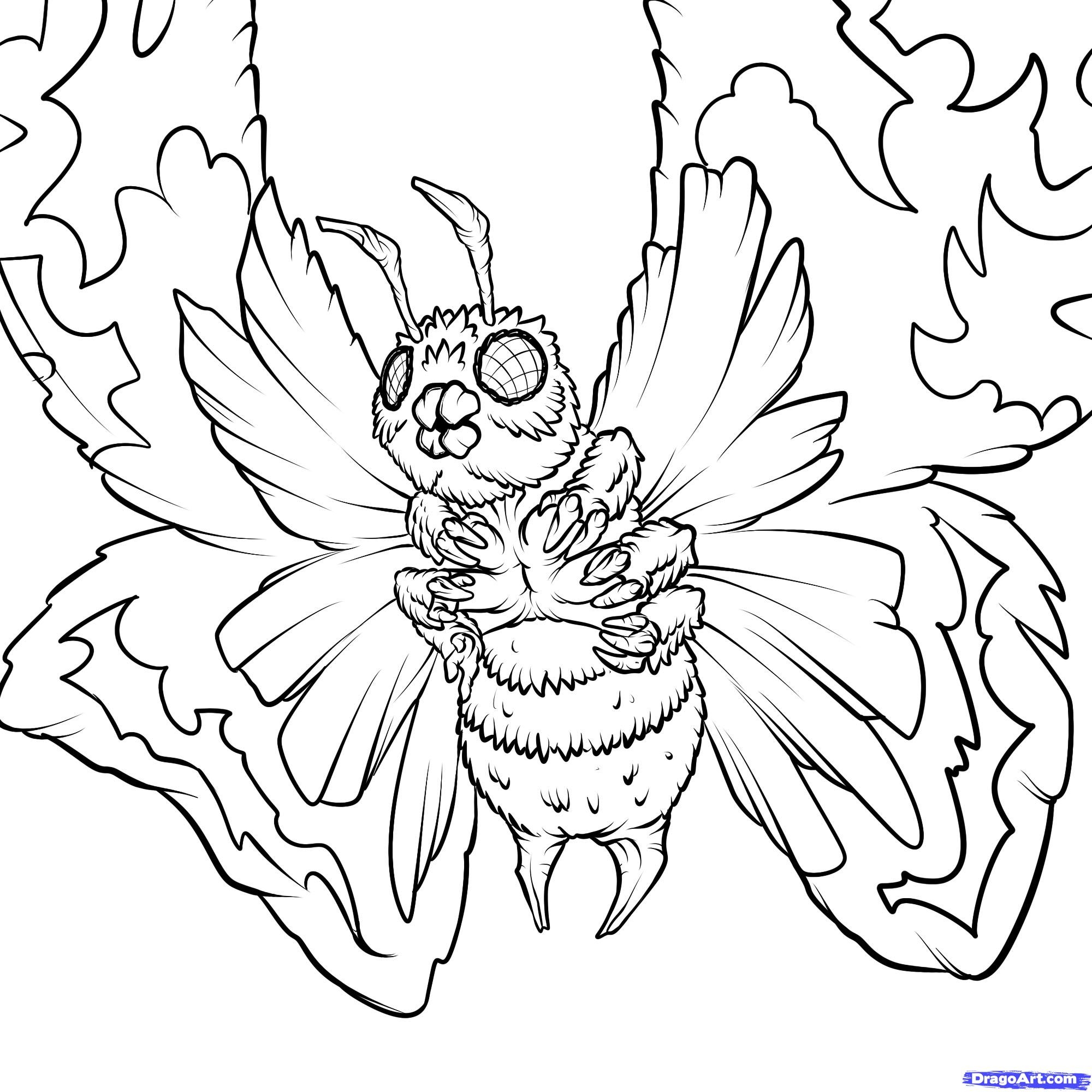 2000x2000 Godzilla Coloring Pages Coloringsuite Download