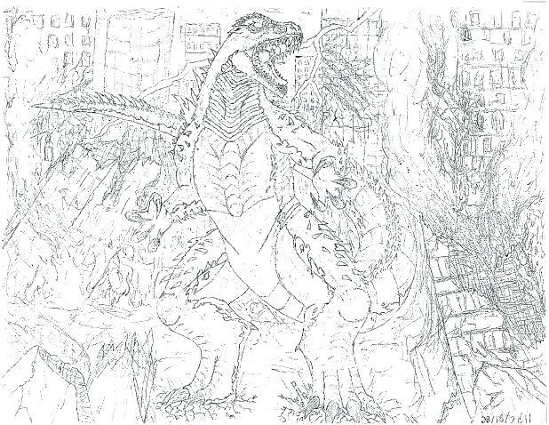 618x478 Godzilla Coloring Sheets Top Coloring Pages Photo Godzilla