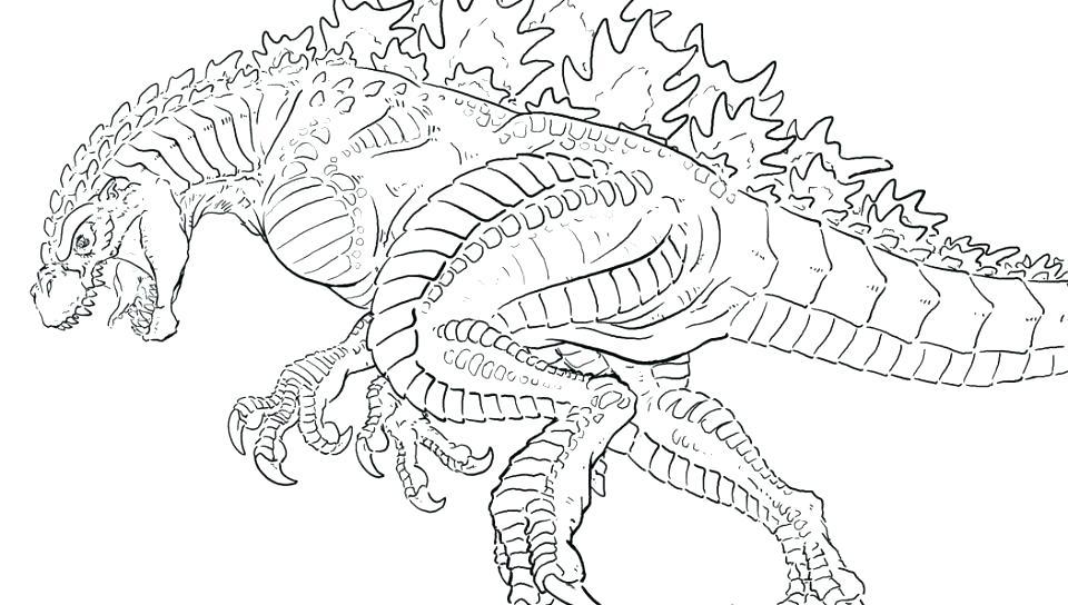 960x544 Godzilla Coloring