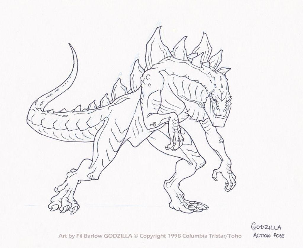 1024x839 King Kong Vs Godzilla Coloring Page Free Printable At Pages