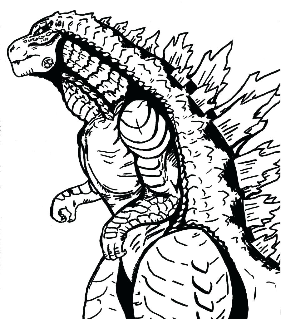 900x1022 Coloring Pages Godzilla Coloring Pages Printable Download King