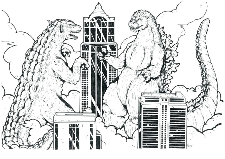 900x636 Godzilla Coloring Pages