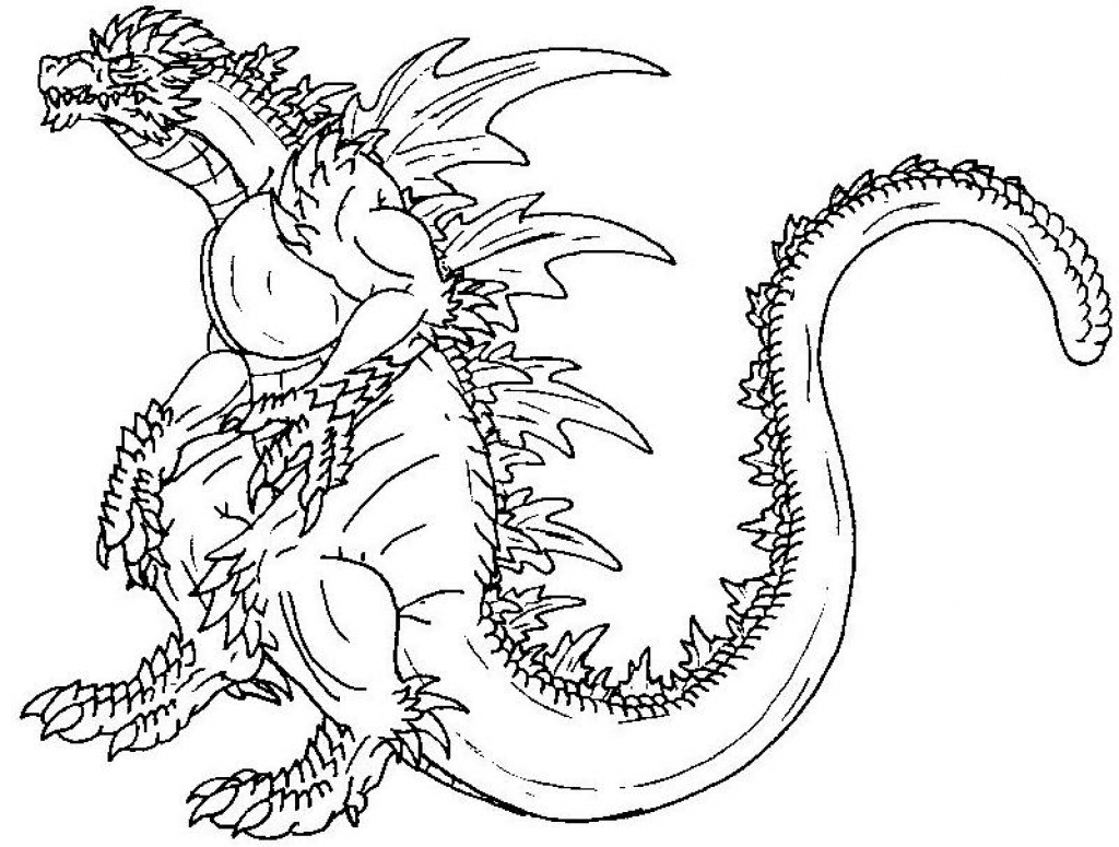 1024x775 Coloring Coloring Pages Godzilla