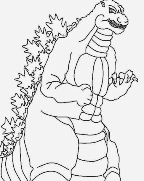 486x611 Godzilla Coloring Pictures Free Coloring Pictures