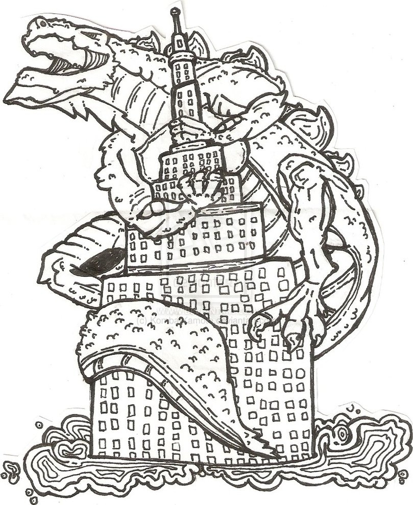 809x988 Godzilla Printable Coloring Pages Free Coloring For Kids