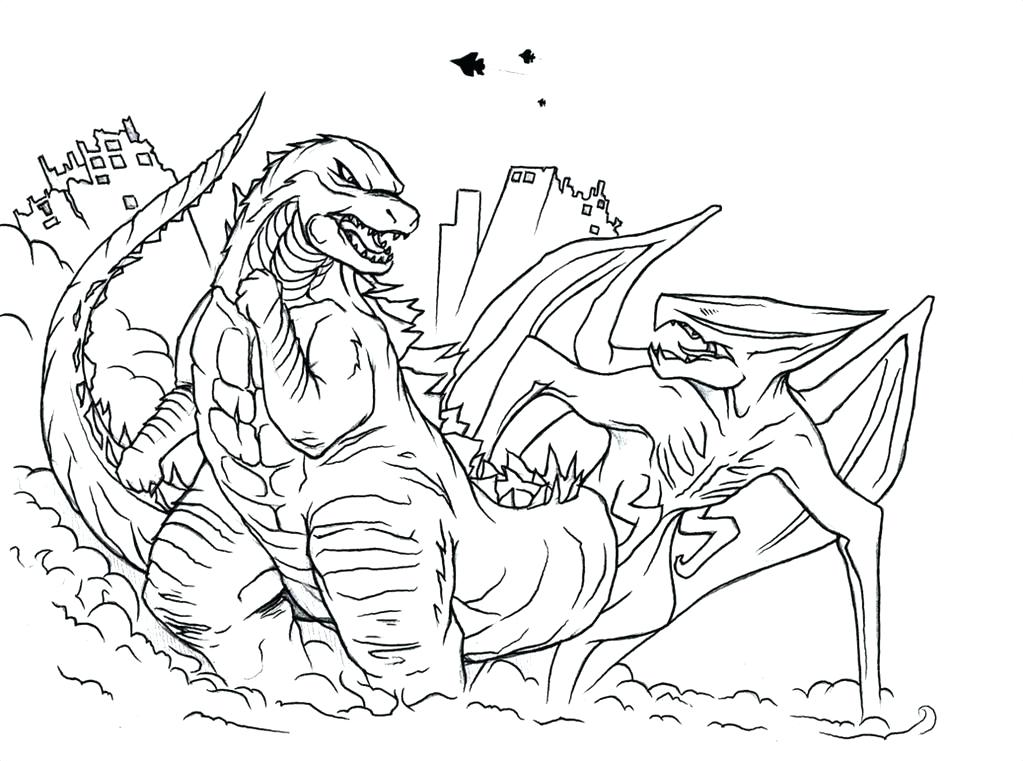 1023x761 Godzilla Printable Coloring Pages Sheets Free Pertaining To Page
