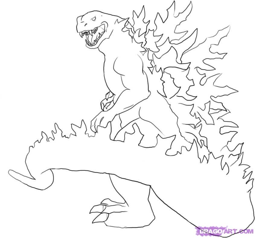 845x786 Printable Godzilla Coloring Pages
