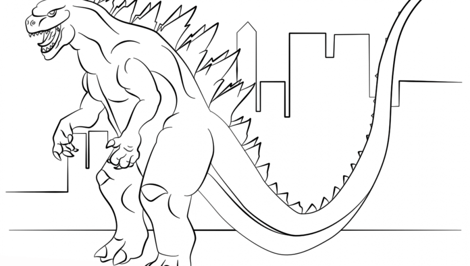 960x544 Ultimate Space Godzilla Coloring Page Free Printable Pages