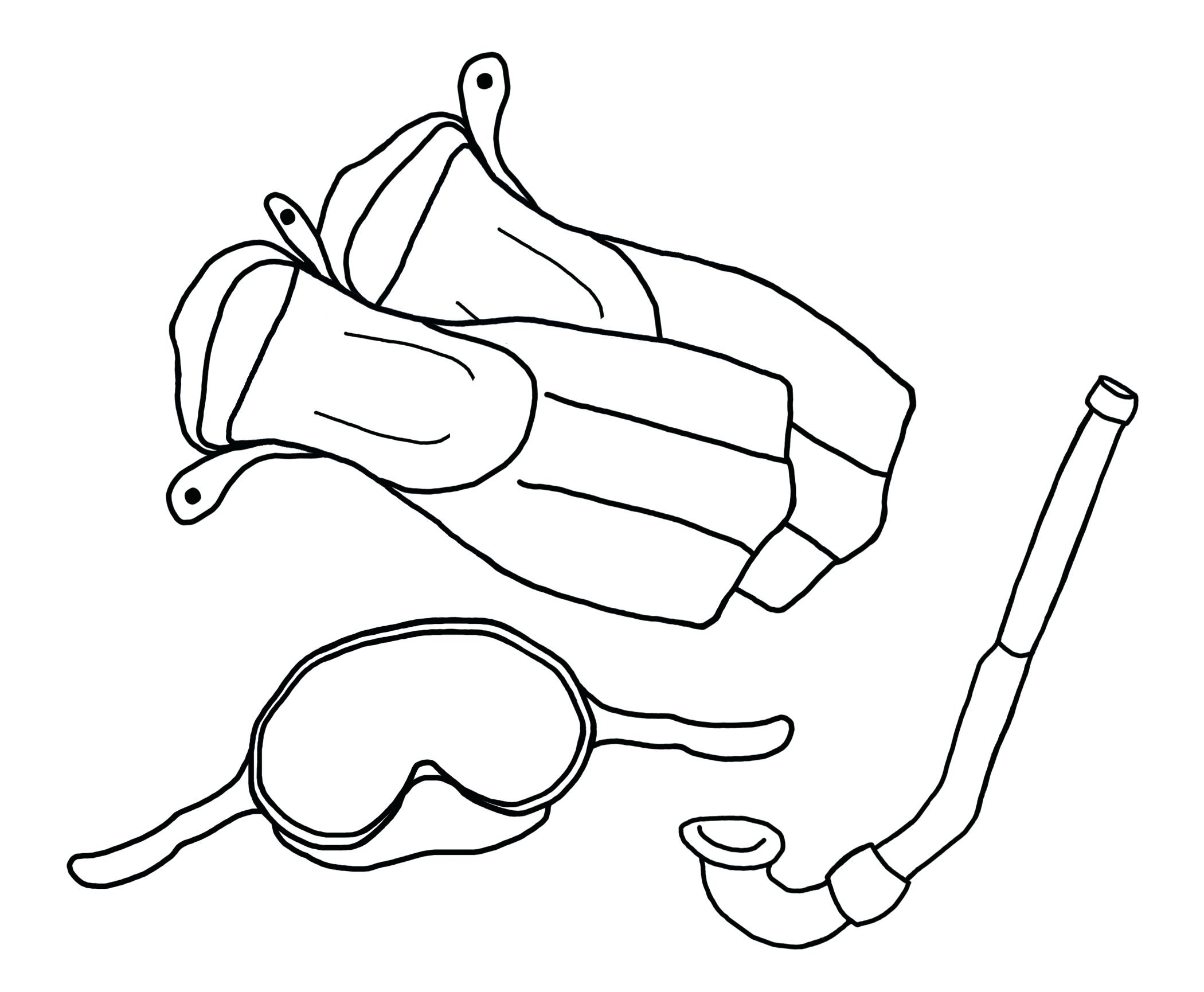 Goggles Coloring Pages