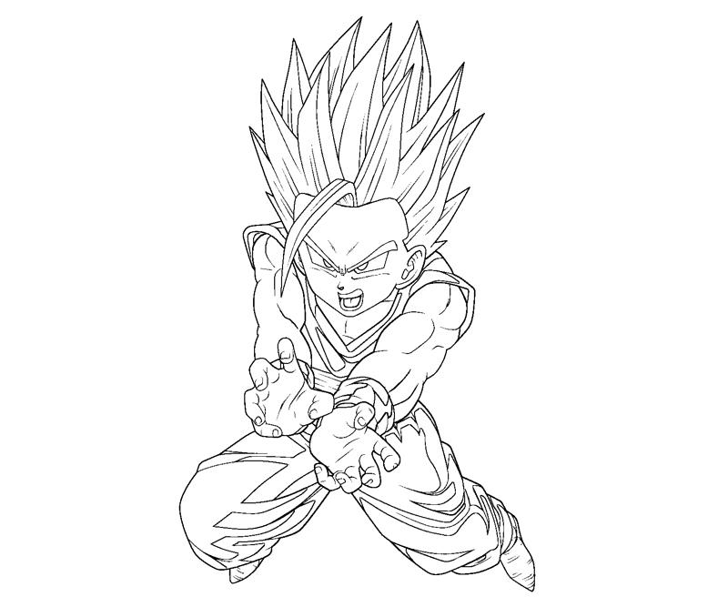 Gohan Coloring Pages at GetDrawings.com | Free for personal use ...