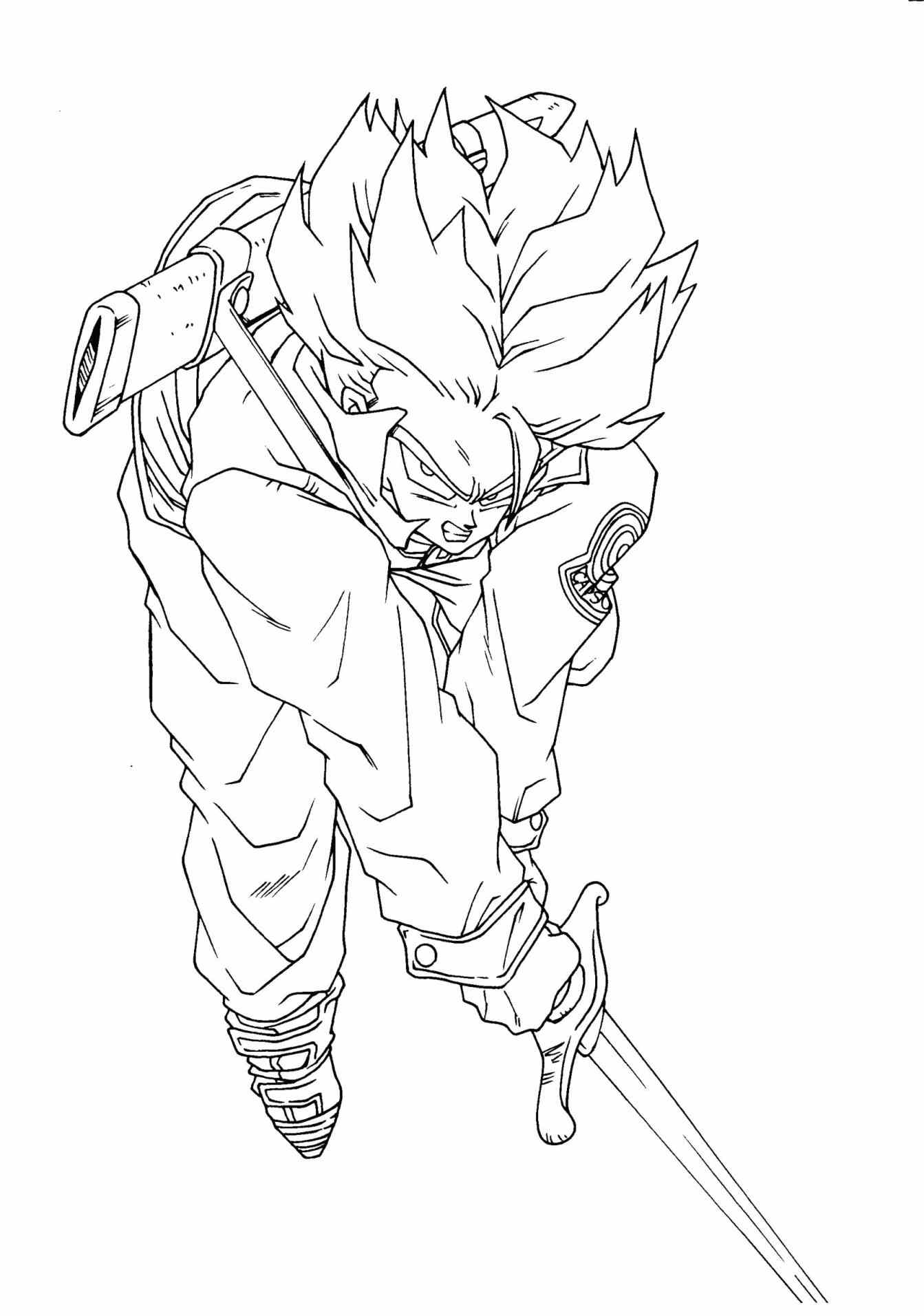 1343x1912 Gohan Coloring Pages