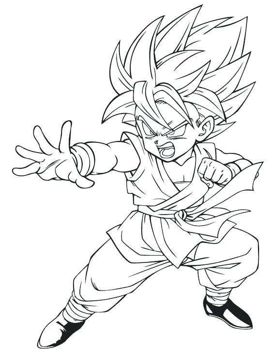 564x729 Gohan Coloring Pages Dragon Gohan Super Saiyan Coloring Pages
