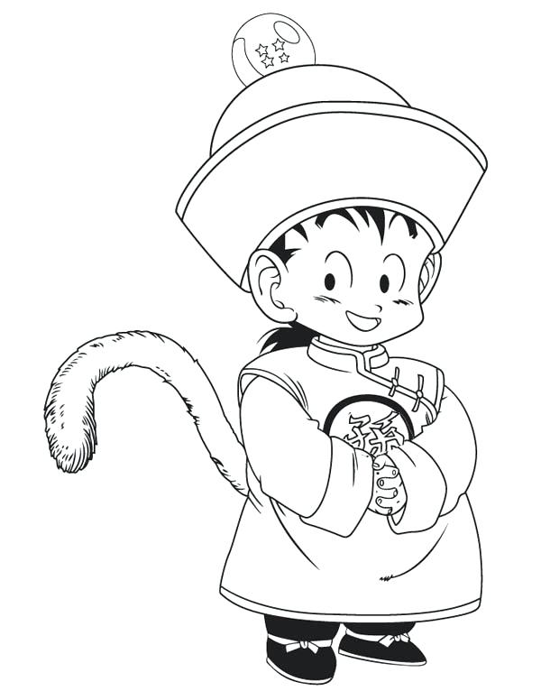 600x776 Gohan Coloring Pages Little In Dragon Ball Z Coloring Page Kids