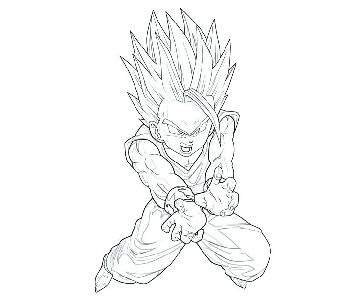 736x613 Gohan Coloring Pages Page For Kids Coloriage Dragon Ball Z
