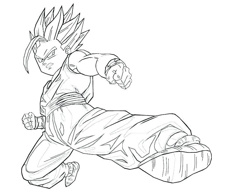 800x667 Gohan Coloring Pages X Dragon Ball Z Anime Manga Dragon Ball Z