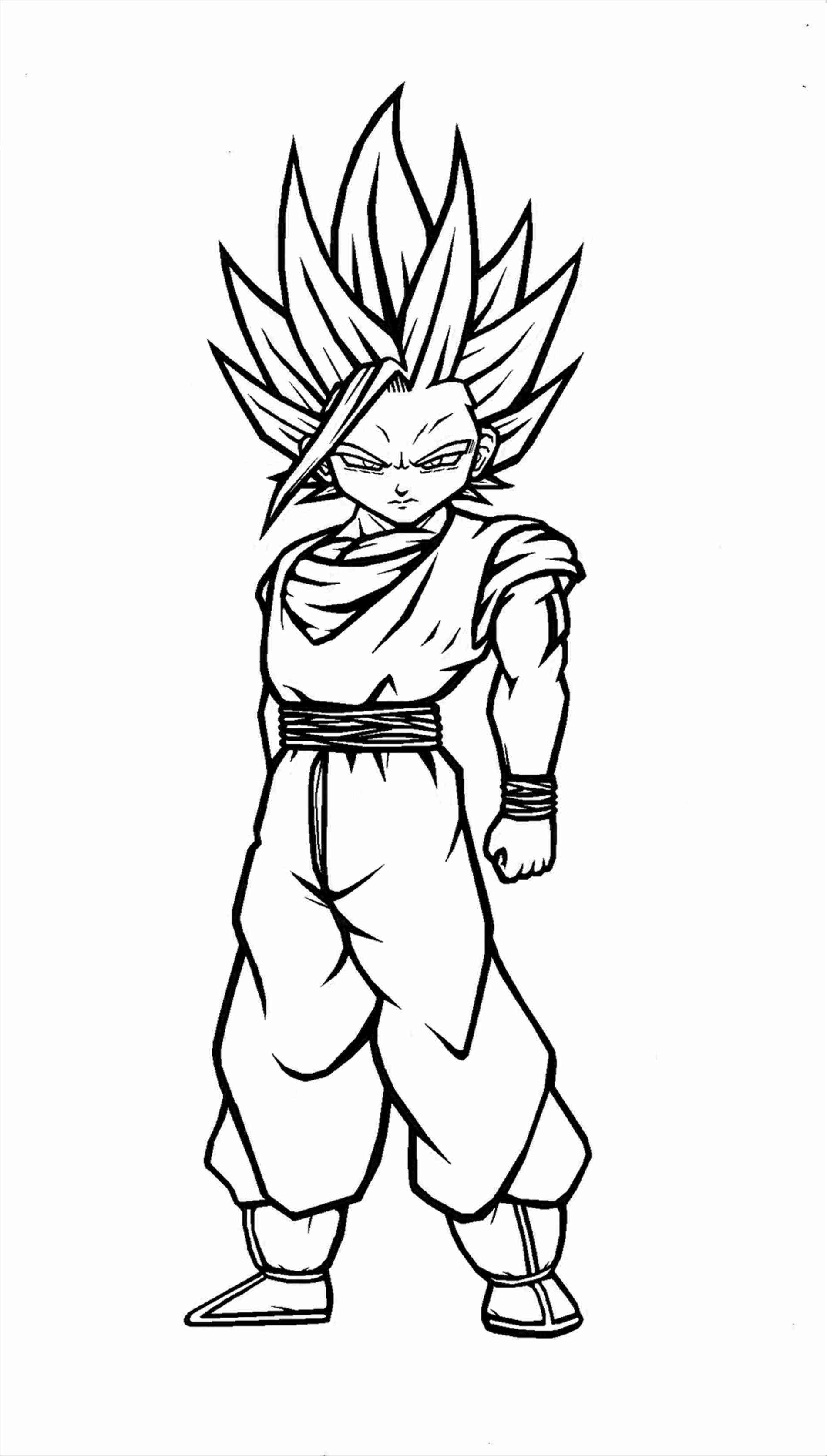 1900x3346 Gohan Super Saiyan Coloring Pages Drinkeats Club Magnificent