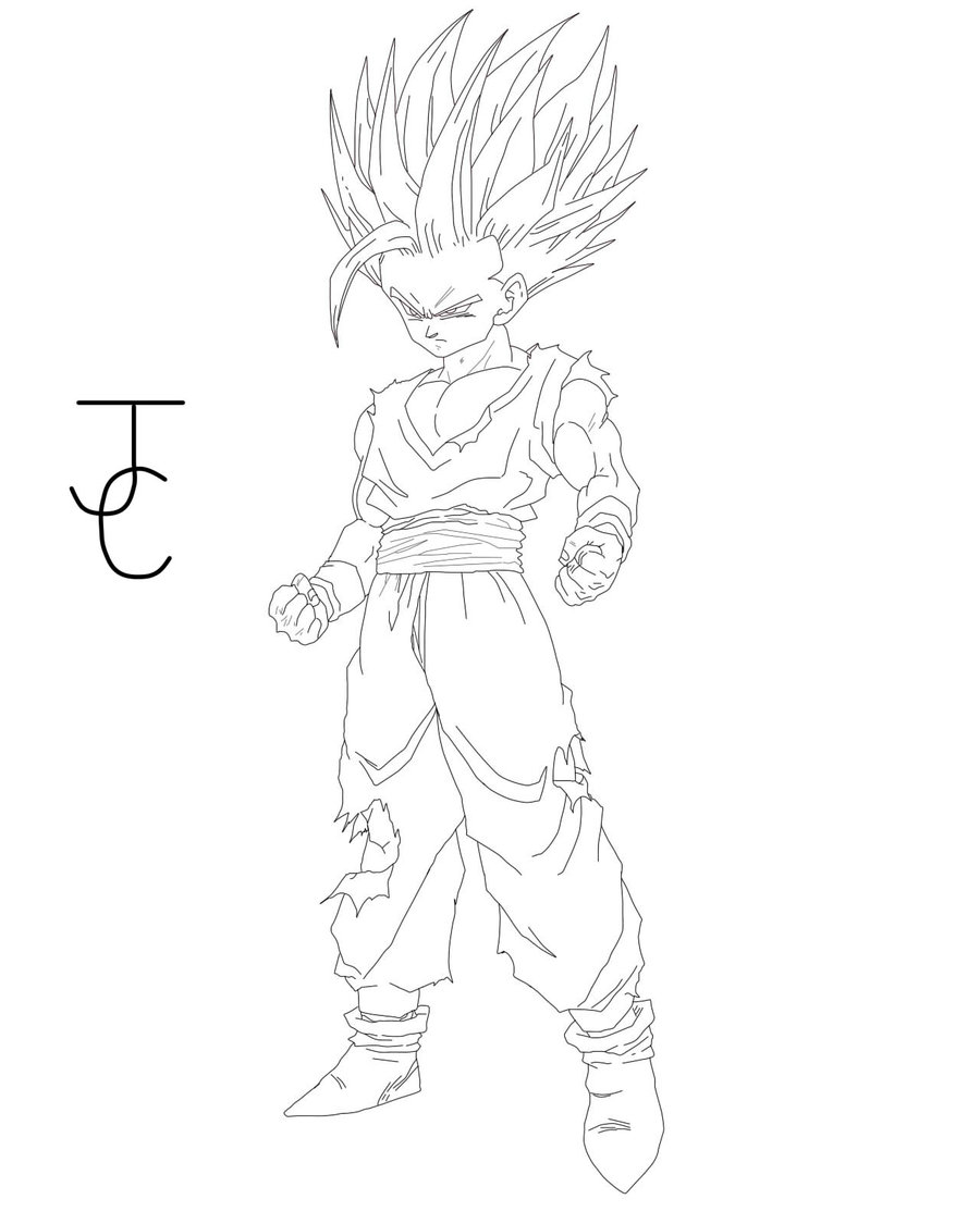 900x1125 Dragon Ball Z Super Saiyan Gohan Coloring Pages Coloring Pages