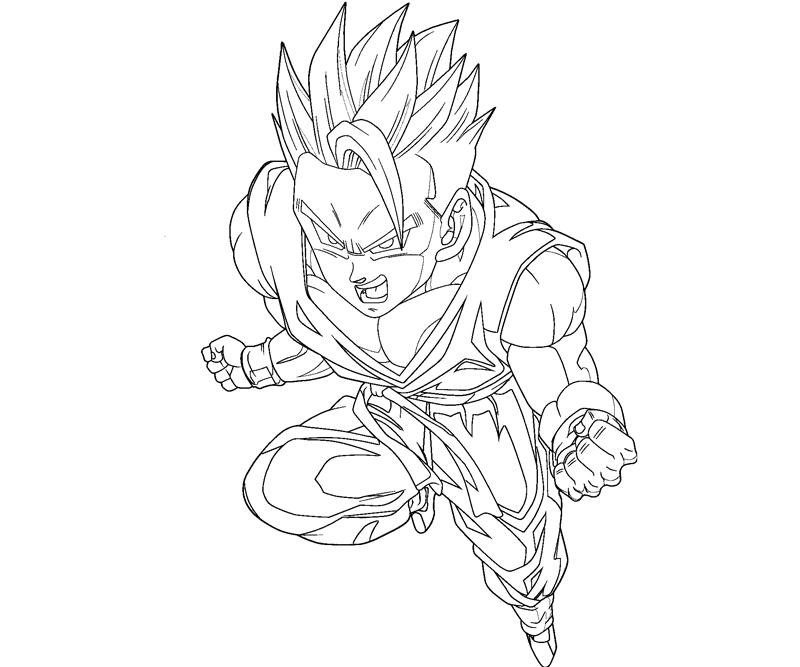 800x667 Gohan Coloring Crafty Teenager Within Pages Designs