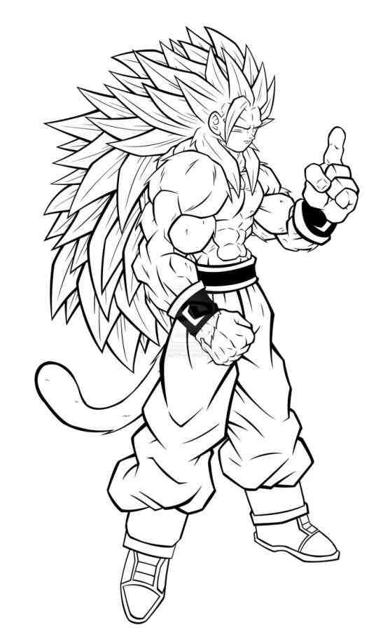 547x912 Goku And Vegeta Coloring Pages Drinkeats Club